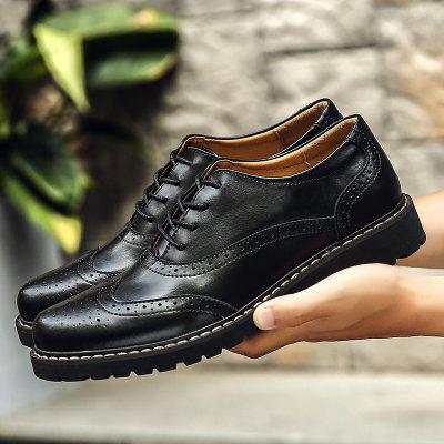 Retro Hollow-out Lace-up Leather ShoesCasual Shoes<br>Retro Hollow-out Lace-up Leather Shoes<br><br>Closure Type: Lace-Up<br>Contents: 1 x Pair of Shoes<br>Decoration: Hollow Out<br>Materials: Leather, Rubber<br>Occasion: Daily, Holiday, Office, Party<br>Outsole Material: Rubber<br>Package Size ( L x W x H ): 33.00 x 24.00 x 13.00 cm / 12.99 x 9.45 x 5.12 inches<br>Package weight: 1.1000 kg<br>Product weight: 0.9000 kg<br>Seasons: Autumn,Spring,Summer,Winter<br>Style: Leisure, Fashion, Comfortable, Casual<br>Type: Casual Leather Shoes<br>Upper Material: Leather