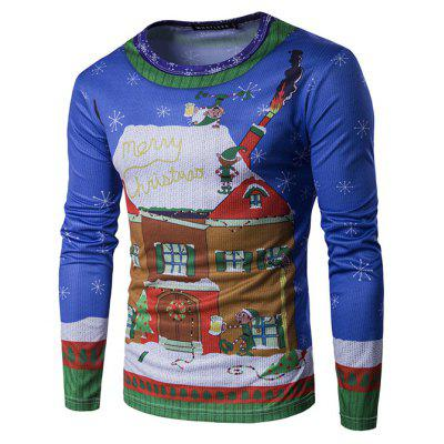 Fashion Long Sleeve Christmas T-shirt