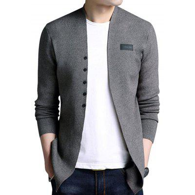 Fashion Solid Color Long Sleeve Sweater Cardigan