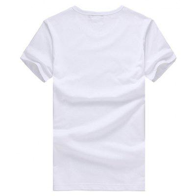 Casual Special Motif Short Sleeve Cotton T-shirtMens Short Sleeve Tees<br>Casual Special Motif Short Sleeve Cotton T-shirt<br><br>Material: Cotton<br>Neckline: Round Neck<br>Package Content: 1 x T-shirt<br>Package size: 26.00 x 20.00 x 1.00 cm / 10.24 x 7.87 x 0.39 inches<br>Package weight: 0.2200 kg<br>Product weight: 0.2000 kg<br>Season: Summer<br>Sleeve Length: Short Sleeves<br>Style: Casual