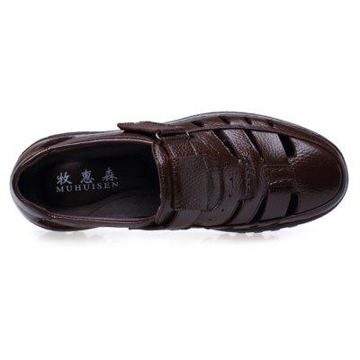 MUHUISEN Men Business Hollow Casual Leather SandalsMens Sandals<br>MUHUISEN Men Business Hollow Casual Leather Sandals<br><br>Brand: MUHUISEN<br>Closure Type: Buckle Strap<br>Contents: 1 x Pair of Shoes, 1 x Box<br>Decoration: Hollow Out<br>Function: Slip Resistant<br>Materials: Rubber, Leather<br>Occasion: Tea Party, Shopping, Party, Outdoor Clothing, Office, Holiday, Daily, Beach, Casual<br>Outsole Material: Rubber<br>Package Size ( L x W x H ): 32.00 x 16.00 x 12.00 cm / 12.6 x 6.3 x 4.72 inches<br>Package weight: 1.1000 kg<br>Pattern Type: Solid<br>Product weight: 0.9000 kg<br>Seasons: Spring,Summer<br>Style: Modern, Leisure, Fashion, Comfortable, Casual, Business<br>Toe Shape: Round Toe<br>Type: Sandals<br>Upper Material: Leather
