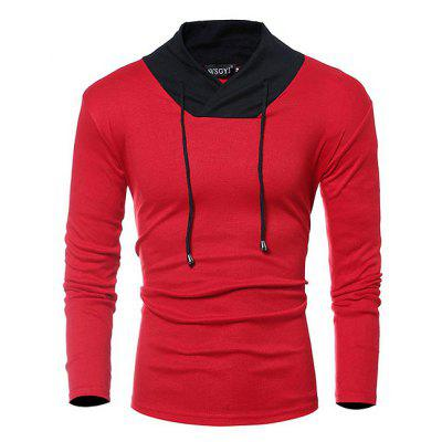 Casual Stitching Long Sleeve T-shirt