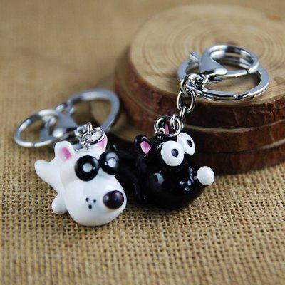 Big Eye Cute Dog Style Key Chain for Lovers 2PCS