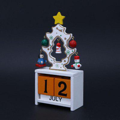 HESSION Christmas Wood Calendar Desktop Ornaments