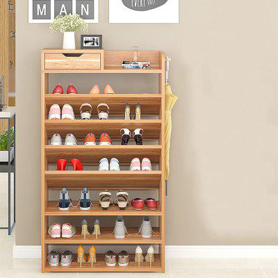 Multilayer Shoe Cabinet Storage Rack with Drawer