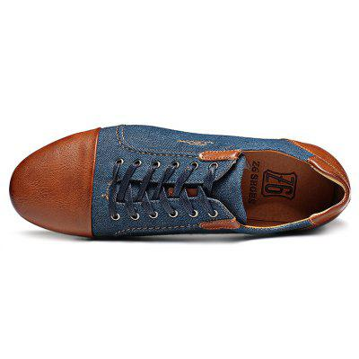 Z6 Stylish Jointed Leather Canvas Casual ShoesCasual Shoes<br>Z6 Stylish Jointed Leather Canvas Casual Shoes<br><br>Brand: Z6<br>Closure Type: Lace-Up<br>Contents: 1 x Pair of Shoes<br>Decoration: Split Joint<br>Materials: Canvas, Leather, PU, Rubber<br>Occasion: Casual, Office, Homecoming, Daily<br>Outsole Material: Rubber<br>Package Size ( L x W x H ): 28.00 x 8.00 x 8.00 cm / 11.02 x 3.15 x 3.15 inches<br>Package weight: 0.7000 kg<br>Product weight: 0.6500 kg<br>Seasons: Autumn,Spring,Summer,Winter<br>Style: Leisure, Comfortable, Casual<br>Type: Casual Shoes<br>Upper Material: Canvas,Leather