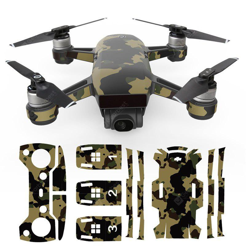 3D Stickers Cool Waterproof for DJI Spark Drone 1 Set