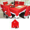 Snowflake Kitchen Chair Covers Table Cloth Sets Festive Decor - RED