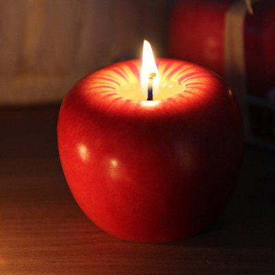 Christmas Decorative Creative Apple Candle 6cm