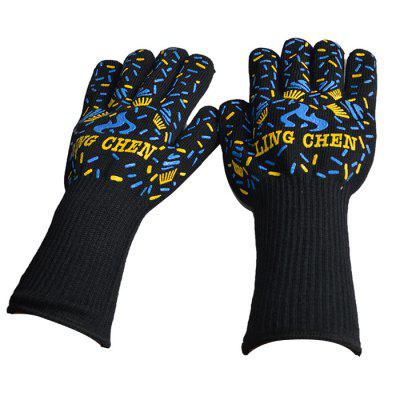 Heat Resistant Oven Gloves Five Fingers Kitchen Mitts 1 PairOther Cooking Tools<br>Heat Resistant Oven Gloves Five Fingers Kitchen Mitts 1 Pair<br><br>Package Contents: 1 x Pair of Oven Gloves<br>Package Size(L x W x H): 25.00 x 10.00 x 4.00 cm / 9.84 x 3.94 x 1.57 inches<br>Package weight: 0.3100 kg<br>Product Size(L x W x H): 31.00 x 16.00 x 3.00 cm / 12.2 x 6.3 x 1.18 inches<br>Product weight: 0.3000 kg