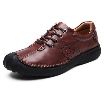 Male Vintage Crash-toe Grained Leather OxfordMen's Oxford<br>Male Vintage Crash-toe Grained Leather Oxford<br><br>Closure Type: Lace-Up<br>Contents: 1 x Pair of Shoes, 1 x Box, 1 x Dustproof Paper<br>Function: Slip Resistant<br>Materials: Rubber, Leather<br>Occasion: Tea Party, Party, Office, Casual, Shopping, Daily, Holiday<br>Outsole Material: Rubber<br>Package Size ( L x W x H ): 33.00 x 24.00 x 13.00 cm / 12.99 x 9.45 x 5.12 inches<br>Package weight: 1.0000 kg<br>Product weight: 0.8000 kg<br>Seasons: Autumn,Spring<br>Style: Modern, Leisure, Fashion, Comfortable, Casual<br>Toe Shape: Round Toe<br>Type: Casual Leather Shoes<br>Upper Material: Leather