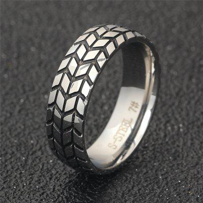 Creative Stainless Steel Tire Men RingRings<br>Creative Stainless Steel Tire Men Ring<br><br>Package Contents: 1 x Ring<br>Package size (L x W x H): 4.00 x 4.00 x 4.00 cm / 1.57 x 1.57 x 1.57 inches<br>Package weight: 0.0242 kg<br>Product weight: 0.0040 kg<br>Style: Fashion<br>Type: Rings