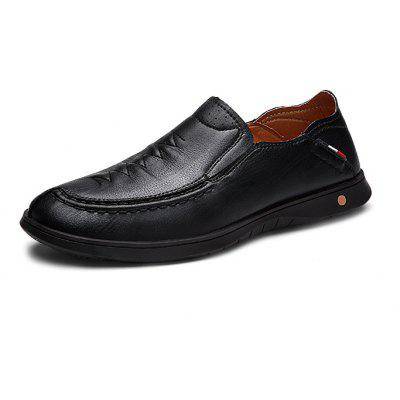 Men British Super-soft Business Casual Flat Loafers polo club с h a лонгслив поло polo club с h a pc122002788002 black and brown