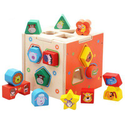 Cartoon Shape Matching Educational Toy for Baby