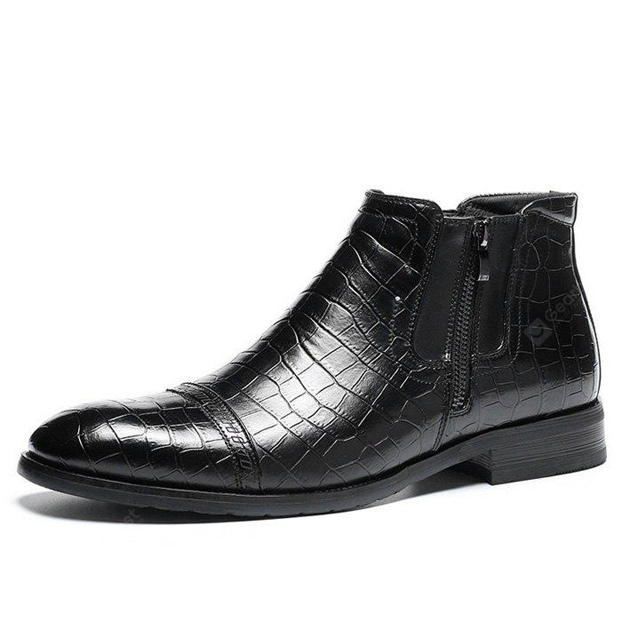 Z6 Embossed Business Casual Ankle Boots for Men