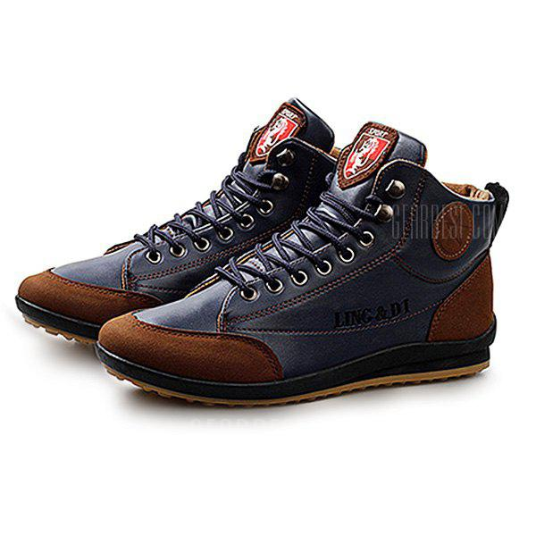 Men Stylish Warmest Soft Ankle Casual Leather Shoes