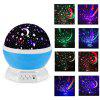 360 Degree Electric Rotating Cosmos Projector Night Lamp - BLUE