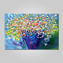 Mintura Vase with Flower Oil Painting Hanging Wall Art