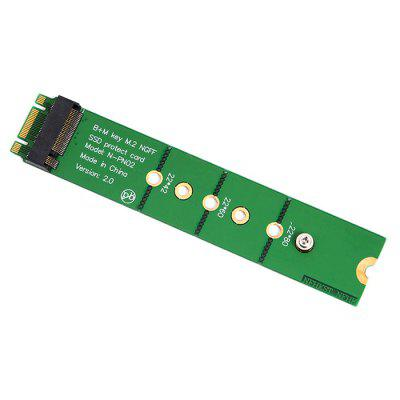 M.2 NGFF SSD B + M Key Male to Female Adapter Protect Card