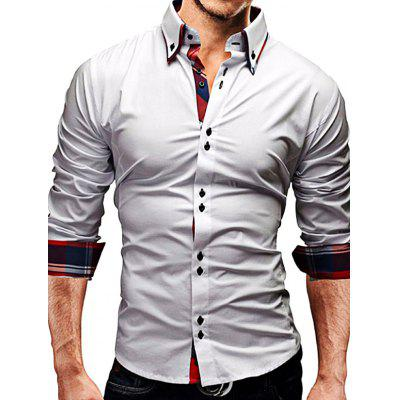 Stylish Classic Shirt with Checked Motifs