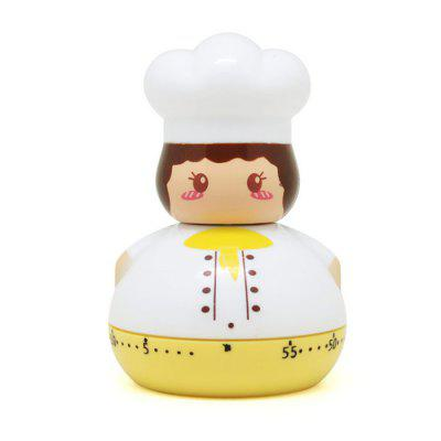 Mini Mechanical Timer Cartoon Chef Cooking Time Reminder