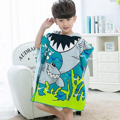 Cartoon Hooded Bath Towel for Kids