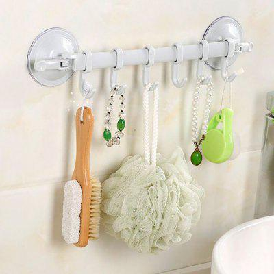 Powerful Sucker Hook Rack with 6 Hooks for Bathroom Kitchen