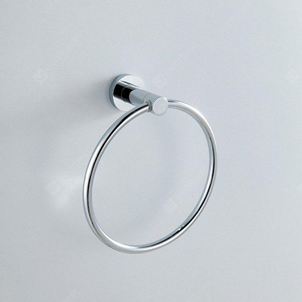 MLFALLS Modern Style Chrome Finished Hand Towel Ring
