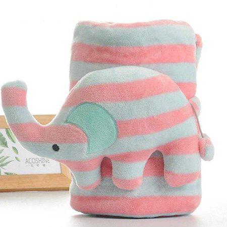 Comfortable Air Conditioning Blanket with Elephant Pillow
