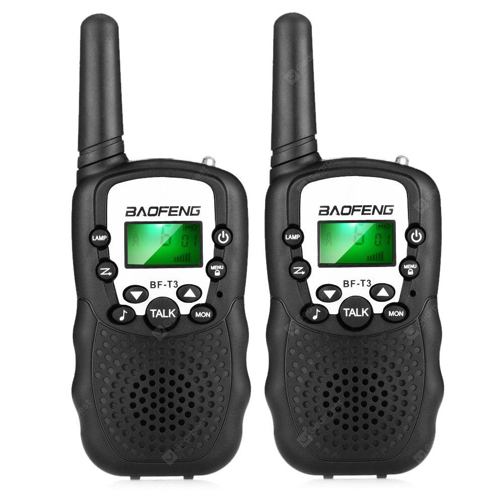 Gearbest BAOFENG BF - T3 Wireless Walkie Talkie ( EU Version ) 2PCS - BLACK
