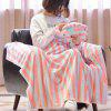 Comfortable Air Conditioning Blanket with Elephant Pillow - COLORMIX