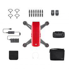 (good price) DJI Spark Mini RC Selfie Drone – RED RTF WiFi FPV 12MP Camera / 2km Image Transmission Distance / 2-axis Mechanical Gimbal