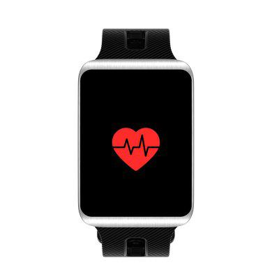 TF1 Smart Watch  for iOS / Android PhonesSmart Watches<br>TF1 Smart Watch  for iOS / Android Phones<br><br>Alert type: Vibration<br>Band material: Silicone<br>Band size: 26 x 2cm<br>Battery  Capacity: 100mAh<br>Bluetooth calling: Callers name display,Phone call reminder<br>Bluetooth Version: Bluetooth 4.0<br>Built-in chip type: Nordic 52832<br>Case material: Zinc Alloy<br>Charging Time: About 3hours<br>Compatability: Android 4.4 / iOS 8.0 and above systems<br>Compatible OS: Android, IOS<br>Dial size: 3 x 4 x 1cm<br>Groups of alarm: 3<br>Health tracker: Blood Oxygen,Blood Pressure,Heart rate monitor,Pedometer,Sedentary reminder,Sleep monitor<br>IP rating: IP68<br>Language: Arabic,Burmese,English,French,German,Hebrew,Indonesian,Italian,Japanese,Korean,Malaysian,Persian,Polish,Portuguese,Russian,Simplified Chinese,Spanish,Thai,Traditional Chinese,Turkish,Vietnamese<br>Locking screen: 2<br>Messaging: Message reminder<br>Notification type: WhatsApp, Twitter, Skype, Facebook<br>Operating mode: Touch Screen<br>Other Function: Waterproof, Bluetooth, Alarm, Calendar<br>Package Contents: 1 x Smart Watch, 1 x Charging Cable, 1 x English Manual<br>Package size (L x W x H): 9.50 x 6.50 x 7.00 cm / 3.74 x 2.56 x 2.76 inches<br>Package weight: 0.1600 kg<br>People: Female table,Male table<br>Product size (L x W x H): 26.00 x 3.00 x 1.00 cm / 10.24 x 1.18 x 0.39 inches<br>Product weight: 0.0600 kg<br>RAM: 32KB<br>ROM: 256KB<br>Screen: OLED<br>Screen resolution: 96 x 64<br>Screen size: 0.96 inch<br>Shape of the dial: Rectangle<br>Standby time: 30 days<br>Type of battery: Polymer Li-ion Battery<br>Waterproof: Yes