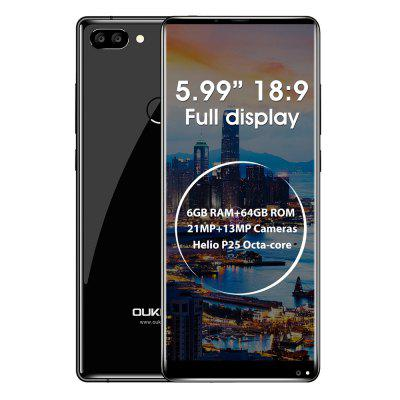 Gearbest Oukitel MIX 2 4G Phablet - BLACK 6GB RAM 64GB ROM 16.0MP + 0.3MP Rear Camera