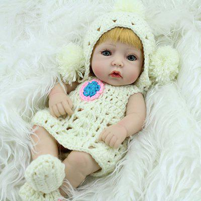 Realistic Simulation Soft Silicone Reborn Baby Girl Doll Toy