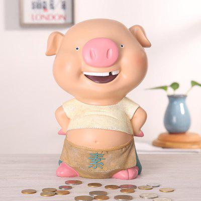 Animal Design Resin Piggy Bank / Money Box Decoration for Desk 1PC