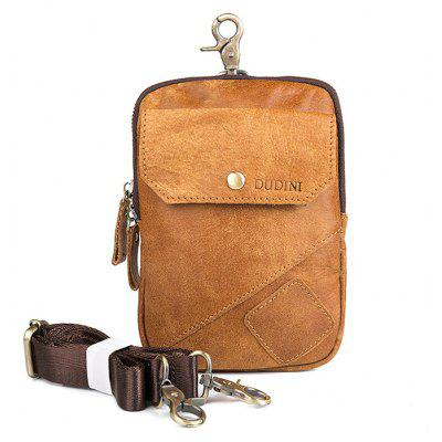DUDINI Leisure Multifunctional Genuine Leather Waist Bag