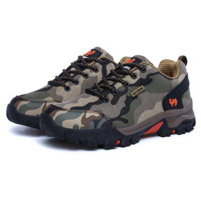 Buy BROWN 38 QI FENG CAMEL Men Camouflage Outdoor Athletic Shoes for $28.99 in GearBest store