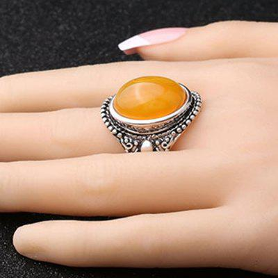 Retro Oval Resin Stone Women RingRings<br>Retro Oval Resin Stone Women Ring<br><br>Package Contents: 1 x Ring<br>Package size (L x W x H): 4.00 x 4.00 x 3.00 cm / 1.57 x 1.57 x 1.18 inches<br>Package weight: 0.0320 kg<br>Product weight: 0.0110 kg<br>Style: Fashion<br>Type: Rings