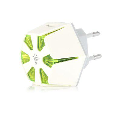 5V 2.1A 2 USB Ports Hexagon Mobile Phone Charger