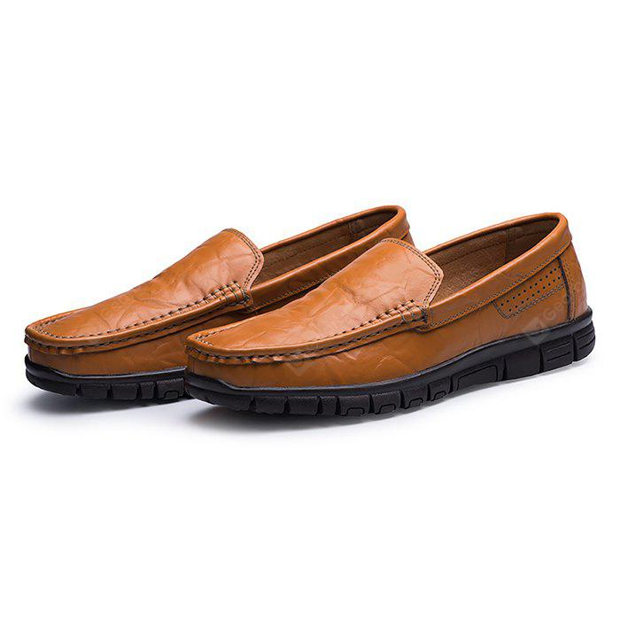 for sale discount sale 100% authentic sale online Men Business Ruffle Grained Driving Flat Loafers best sale sale online W0Ay2JtMd