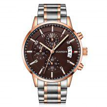 GUANQIN GS19093 Fine Steel Band Men Quartz Watch