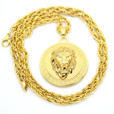 Creative round lion head pendant men necklace 584 online creative round lion head pendant men necklace aloadofball Image collections