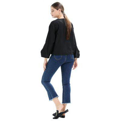 Loose Flounced Solid Color Chiffon BlouseBlouses<br>Loose Flounced Solid Color Chiffon Blouse<br><br>Collar: Round Collar<br>Embellishment: Flounce<br>Material: Cotton, Polyester<br>Package Content: 1 x Blouse<br>Package size (L x W x H): 35.00 x 28.00 x 3.00 cm / 13.78 x 11.02 x 1.18 inches<br>Package weight: 0.3200 kg<br>Product weight: 0.3000 kg<br>Season: Fall, Spring<br>Shirt Length: Regular<br>Sleeve Length: Long Sleeves<br>Style: Casual, Fashion