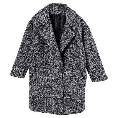 Casual Loose Notch Lapel Thick Overcoat