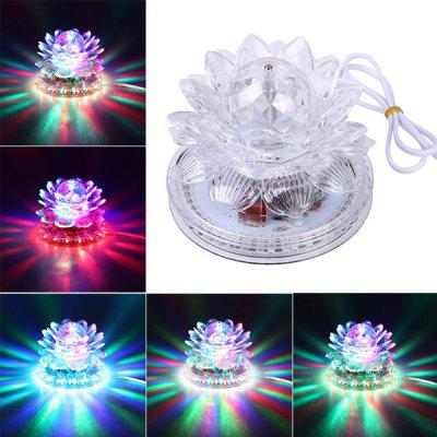 LED Lotus Lamp Rotating RGB Stage Effect Lighting