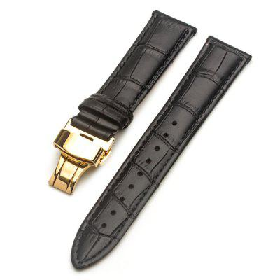 ROPS Unisex Watch Leather Band Replacement with Pin Buckle