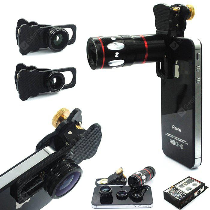 4 in 1 Phone Camera Kit - BLACK