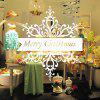 Removable Merry Christmas Decal Wallpaper Wall Sticker - WHITE
