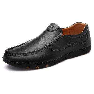 Men Elegant Stitching Business Grained Flat Oxford ShoesMen's Oxford<br>Men Elegant Stitching Business Grained Flat Oxford Shoes<br><br>Closure Type: Slip-On<br>Contents: 1 x Pair of Shoes, 1 x Box, 1 x Dustproof Paper<br>Function: Slip Resistant<br>Materials: Rubber, Leather<br>Occasion: Tea Party, Office, Holiday, Dress, Shopping, Casual, Daily<br>Outsole Material: Rubber<br>Package Size ( L x W x H ): 33.00 x 24.00 x 13.00 cm / 12.99 x 9.45 x 5.12 inches<br>Package weight: 0.9000 kg<br>Pattern Type: Solid<br>Product weight: 0.7000 kg<br>Seasons: Autumn,Spring<br>Style: Modern, Leisure, Fashion, Comfortable, Casual, Business<br>Toe Shape: Round Toe<br>Type: Flat Shoes<br>Upper Material: Leather
